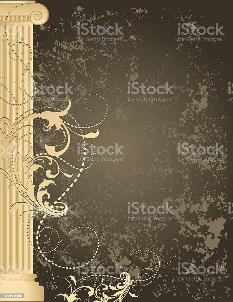 Column Grunge Background royalty-free stock vector art