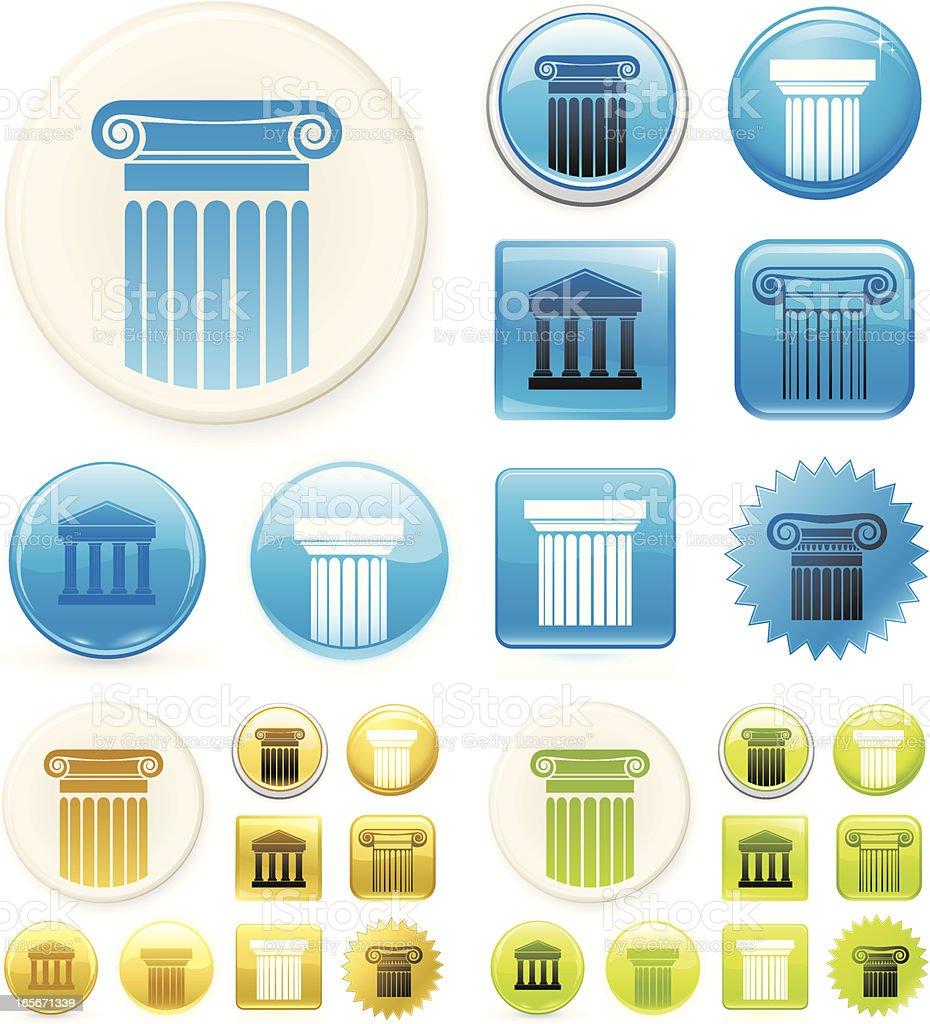 Column icons royalty-free stock vector art