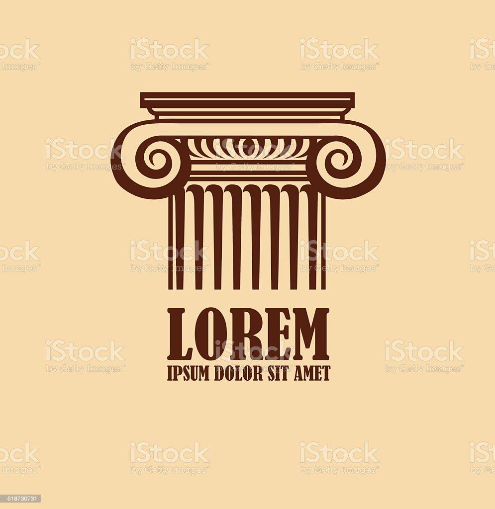 Column logo design template vector art illustration