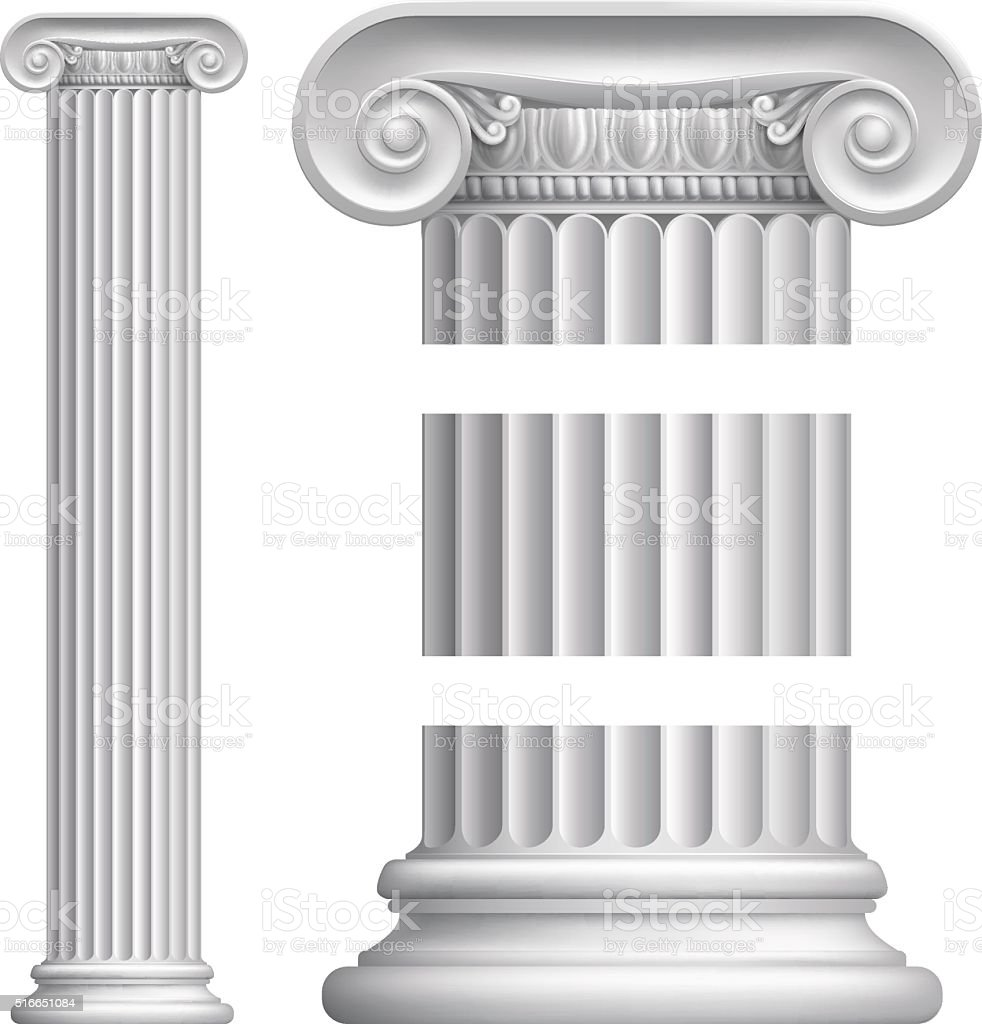 Column Pillar vector art illustration