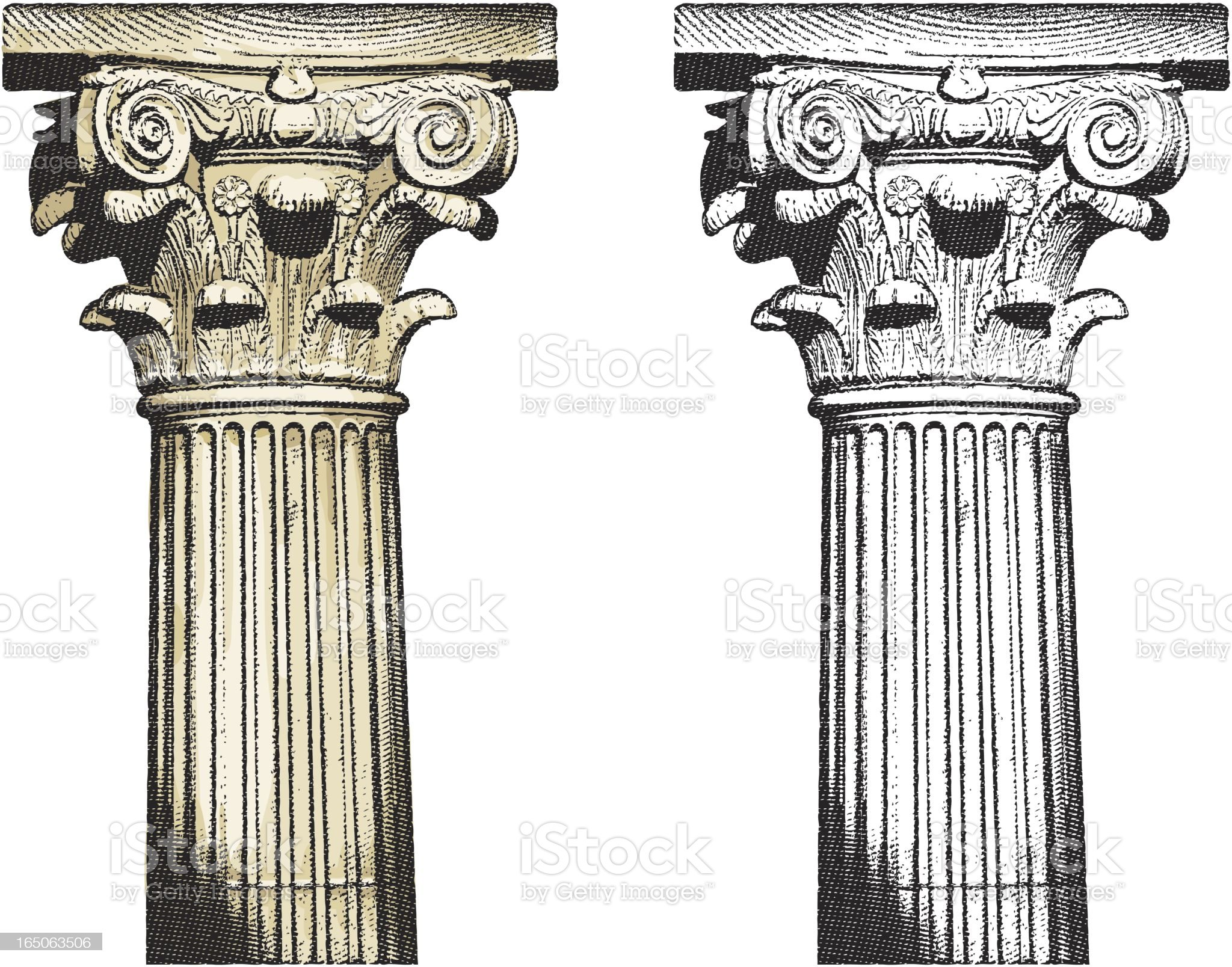 Column royalty-free stock vector art