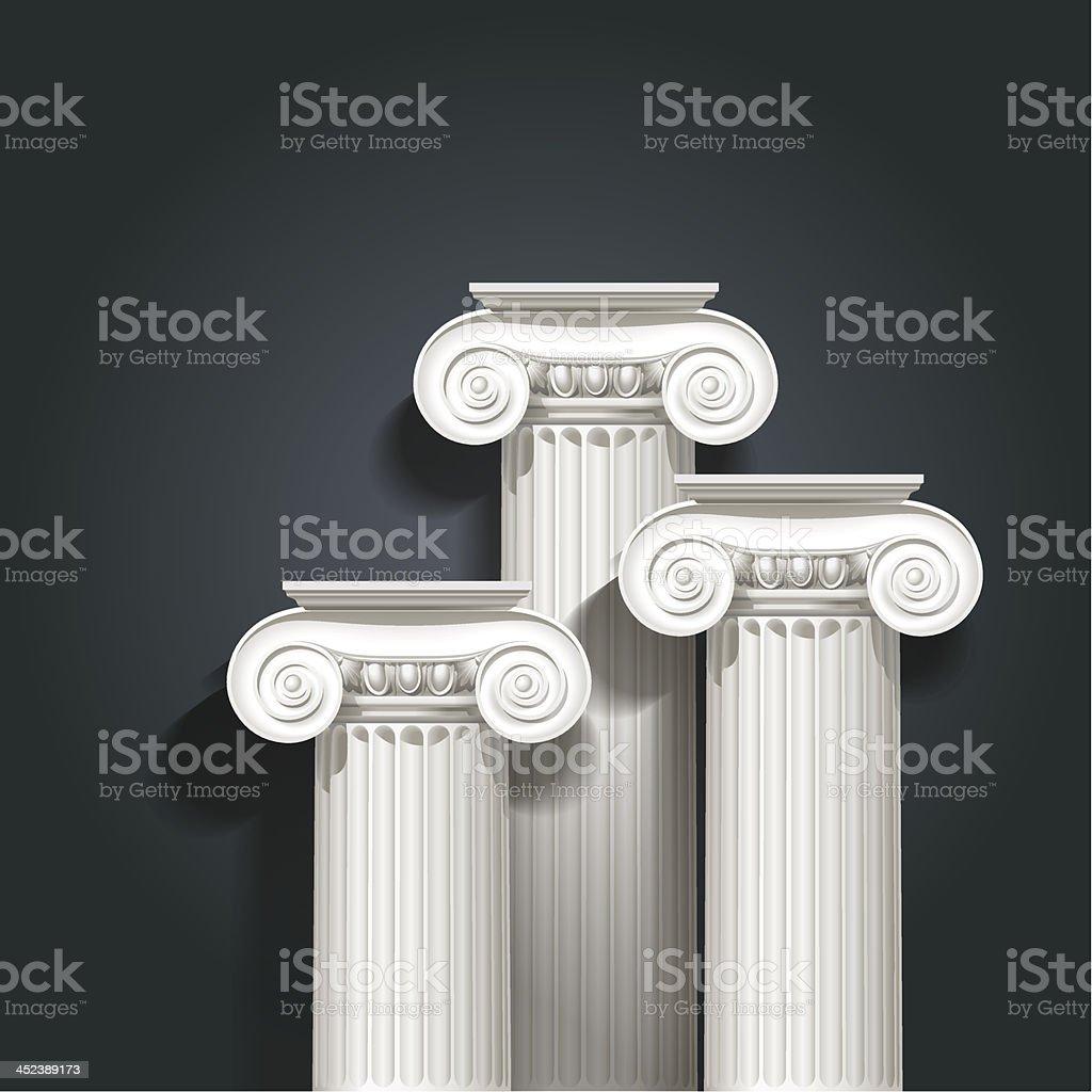 columns vector art illustration