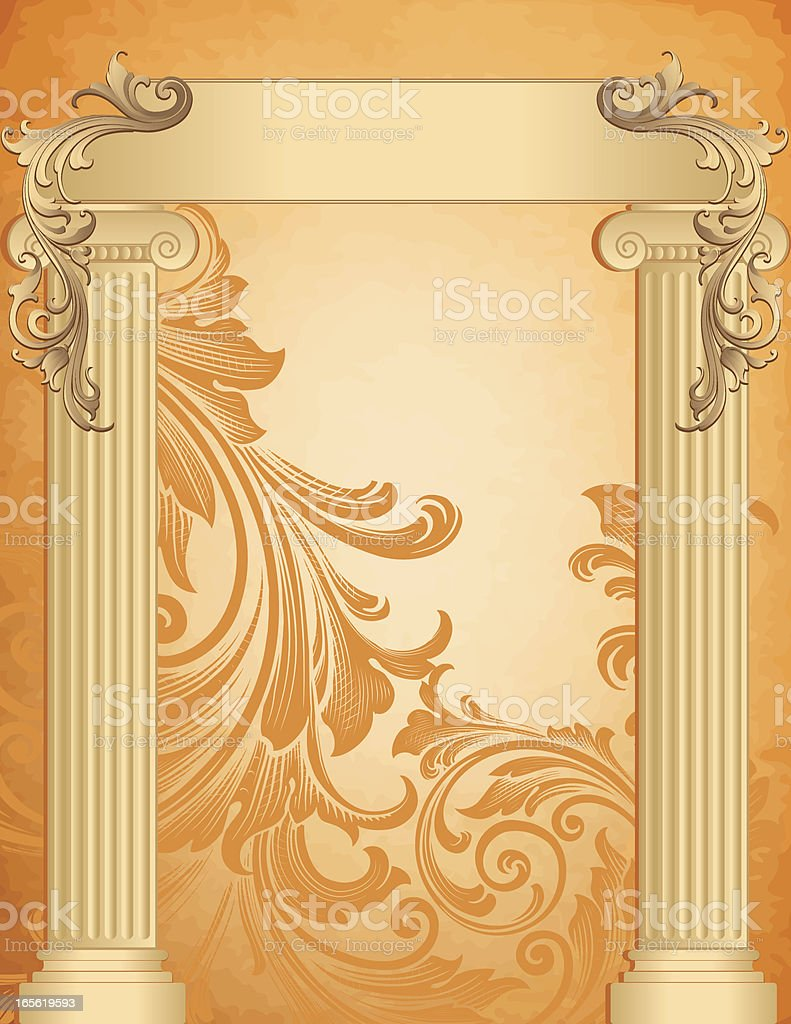 Columns with Banner royalty-free stock vector art