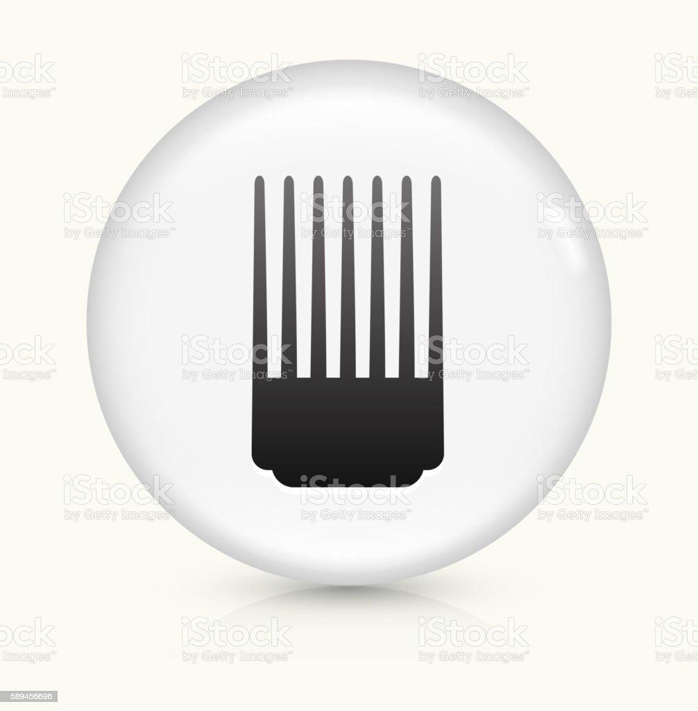 Comb icon on white round vector button vector art illustration
