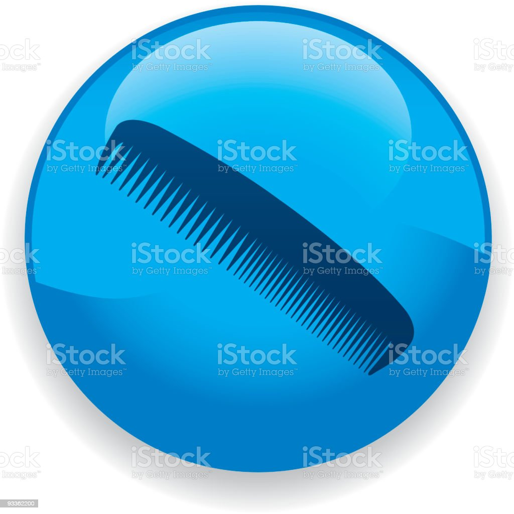 Comb Icon royalty-free stock vector art
