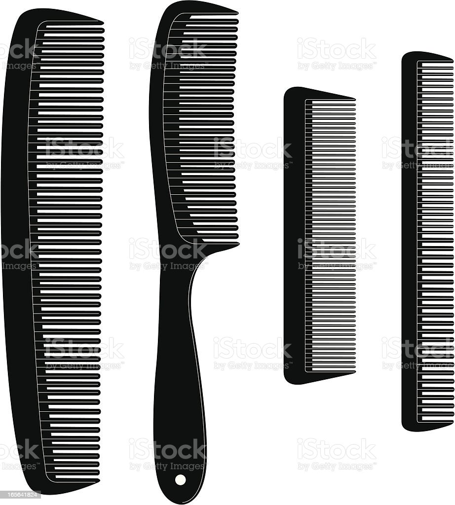 Comb Set royalty-free stock vector art