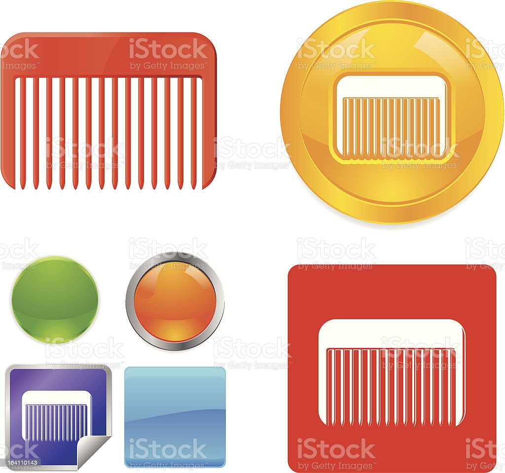 Comb vector icons royalty-free stock vector art