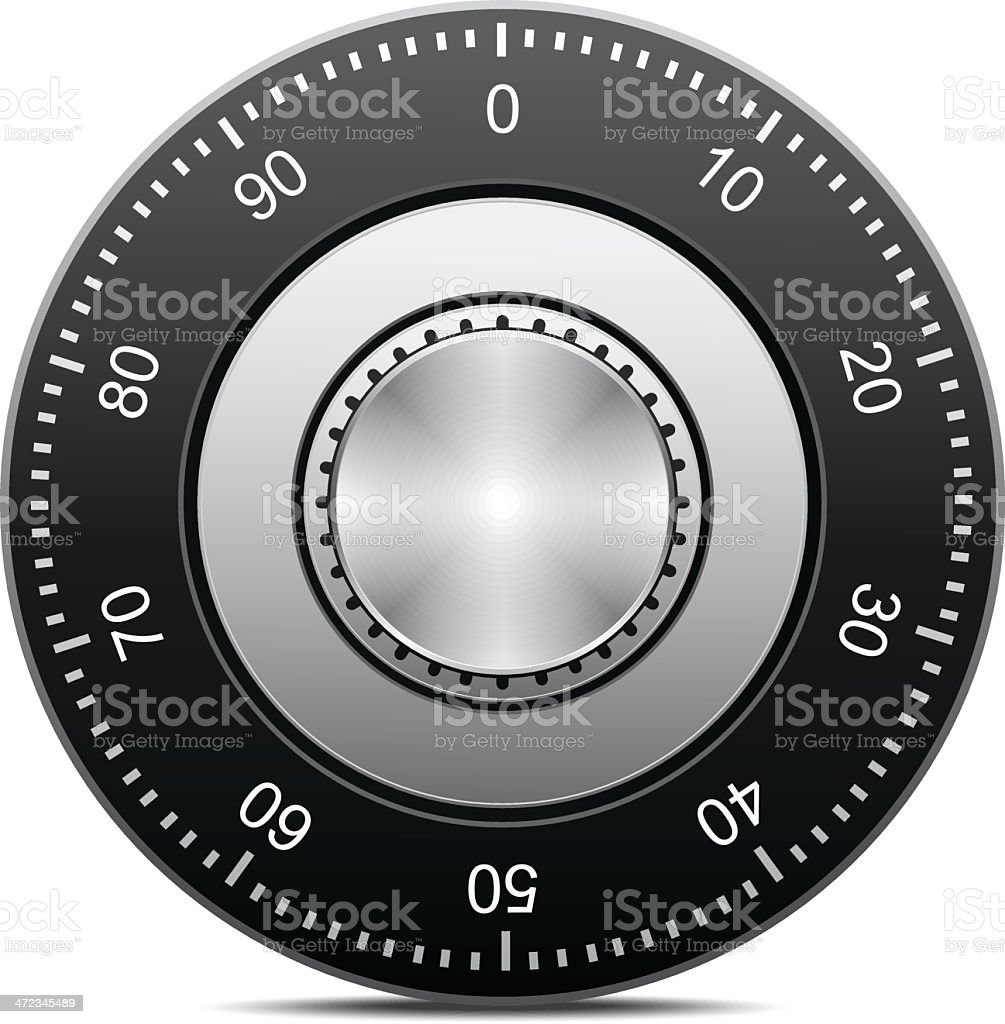 Combination Lock vector art illustration