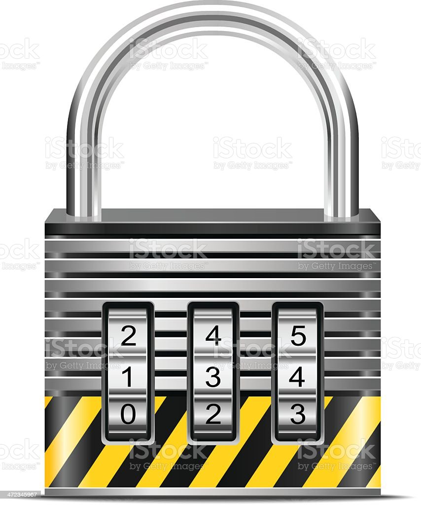 Combination lock royalty-free stock vector art