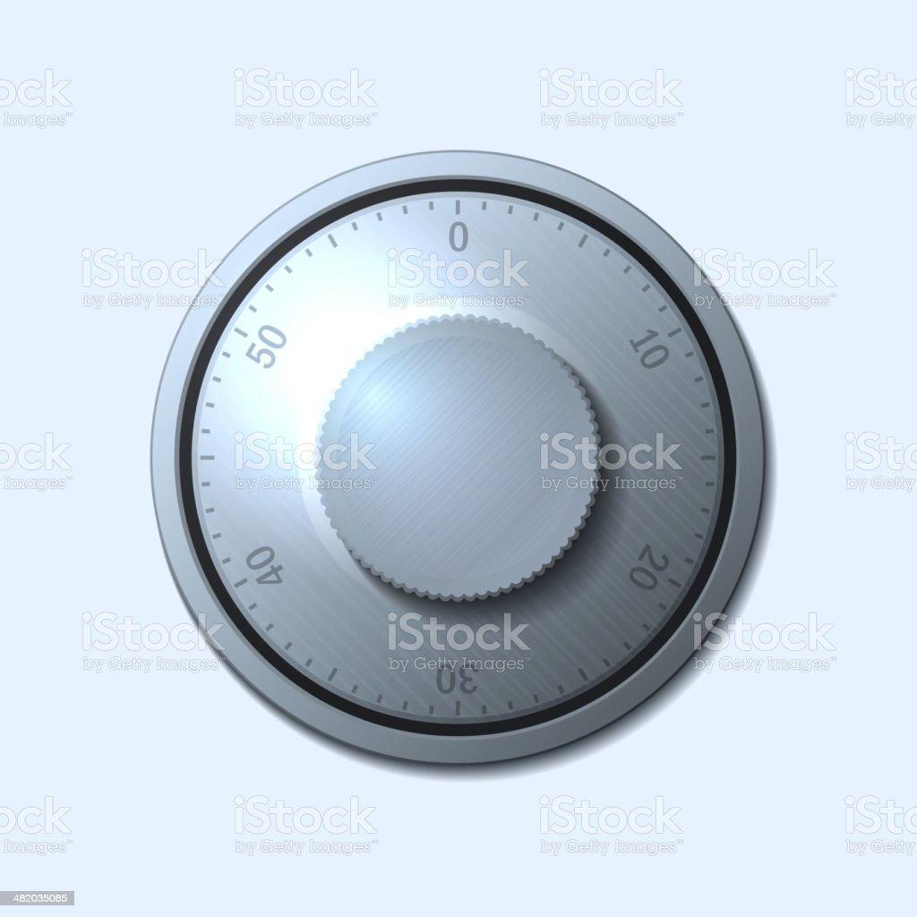 Combination lock wheel on light background. Vector royalty-free stock vector art