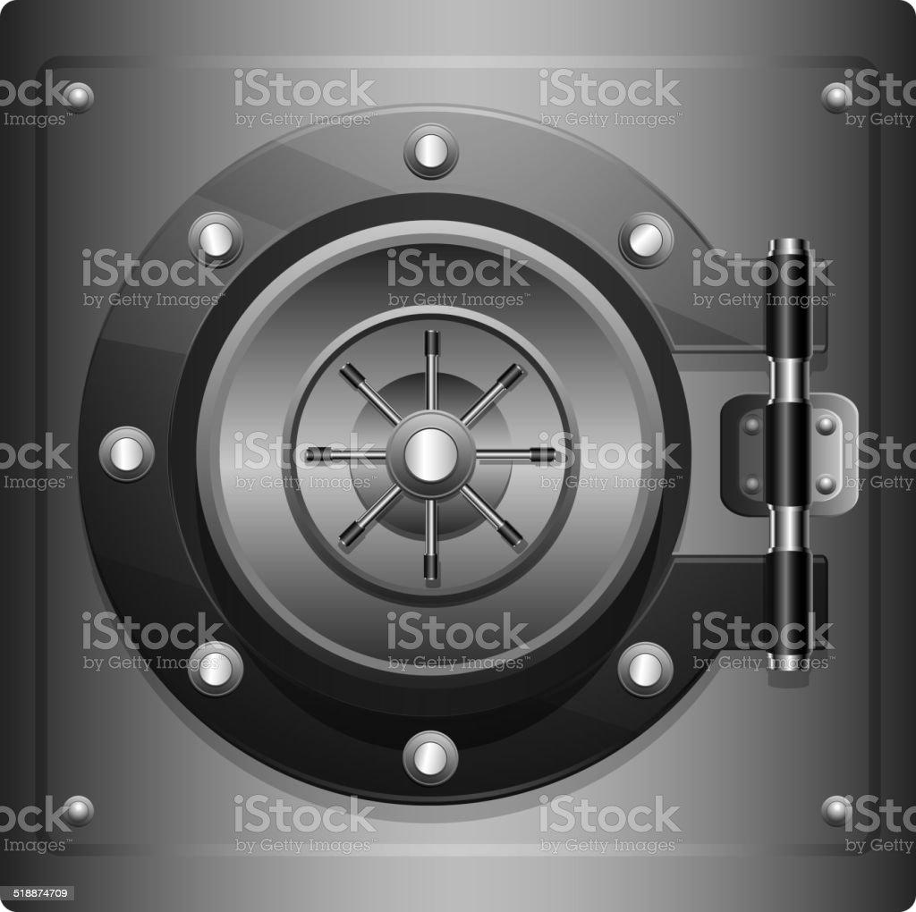 Combination Safe vector art illustration