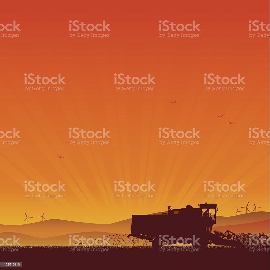 combine harvester royalty-free stock vector art
