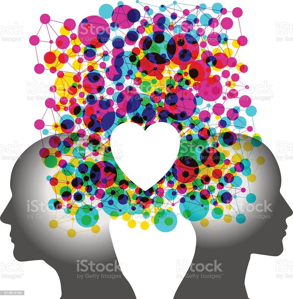 Combined Love - Missing Piece vector art illustration