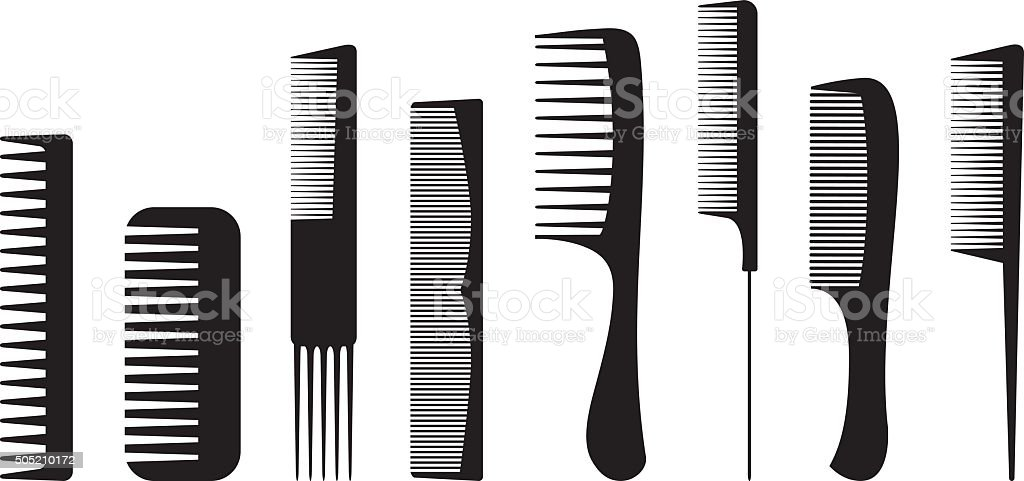 Combs vector art illustration
