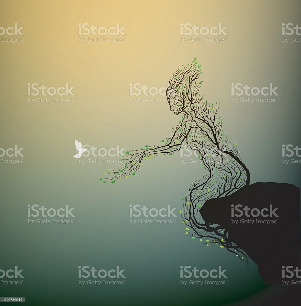 come to me vector art illustration