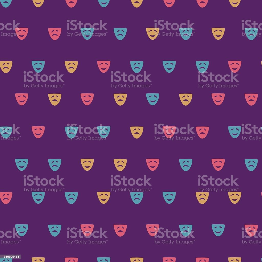 comedy and drama pattern vector art illustration