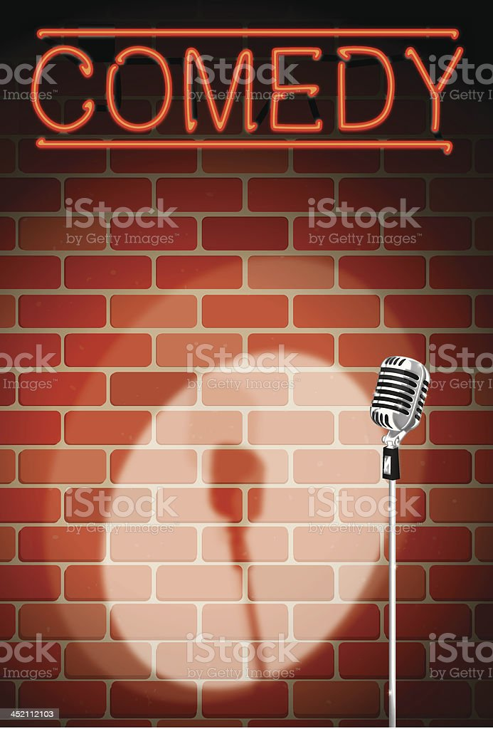 comedy night background royalty-free stock vector art