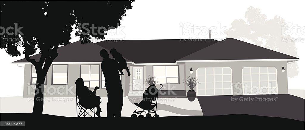Comfort Home royalty-free stock vector art