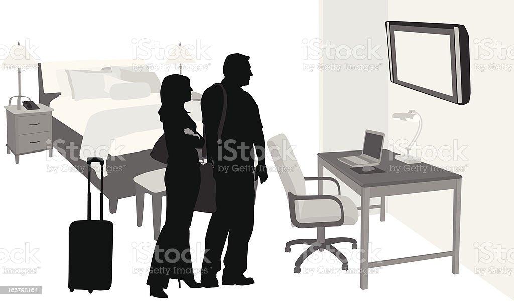 Comfortable Vector Silhouette royalty-free stock vector art