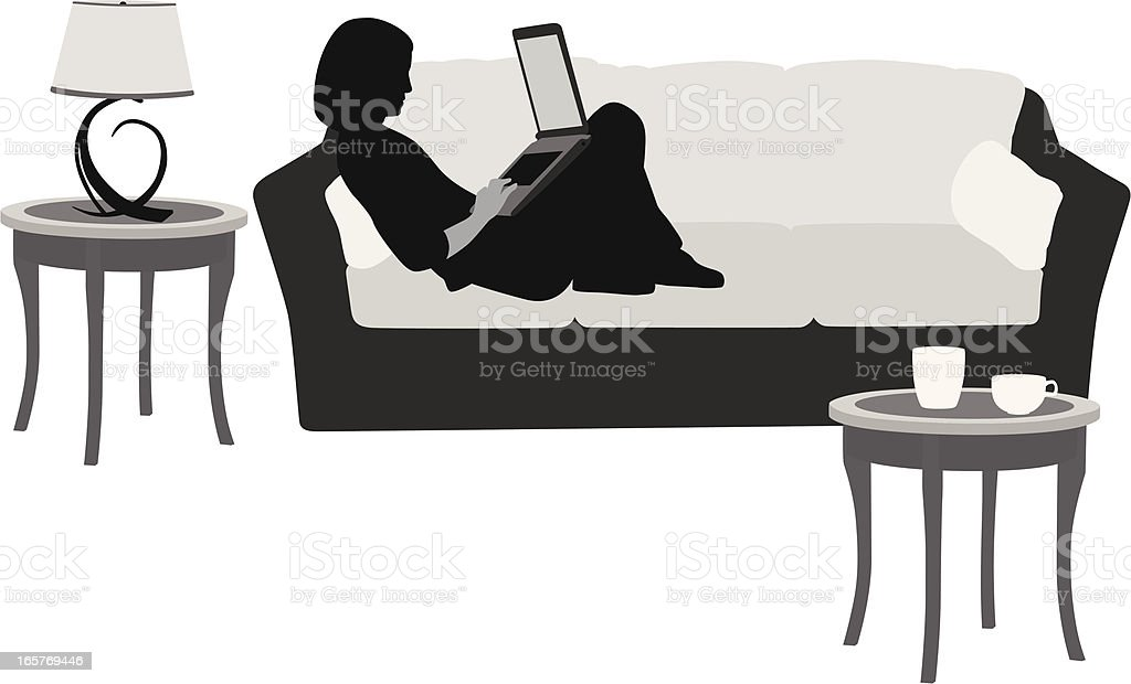 Comfy Cozy Vector Silhouette royalty-free stock vector art