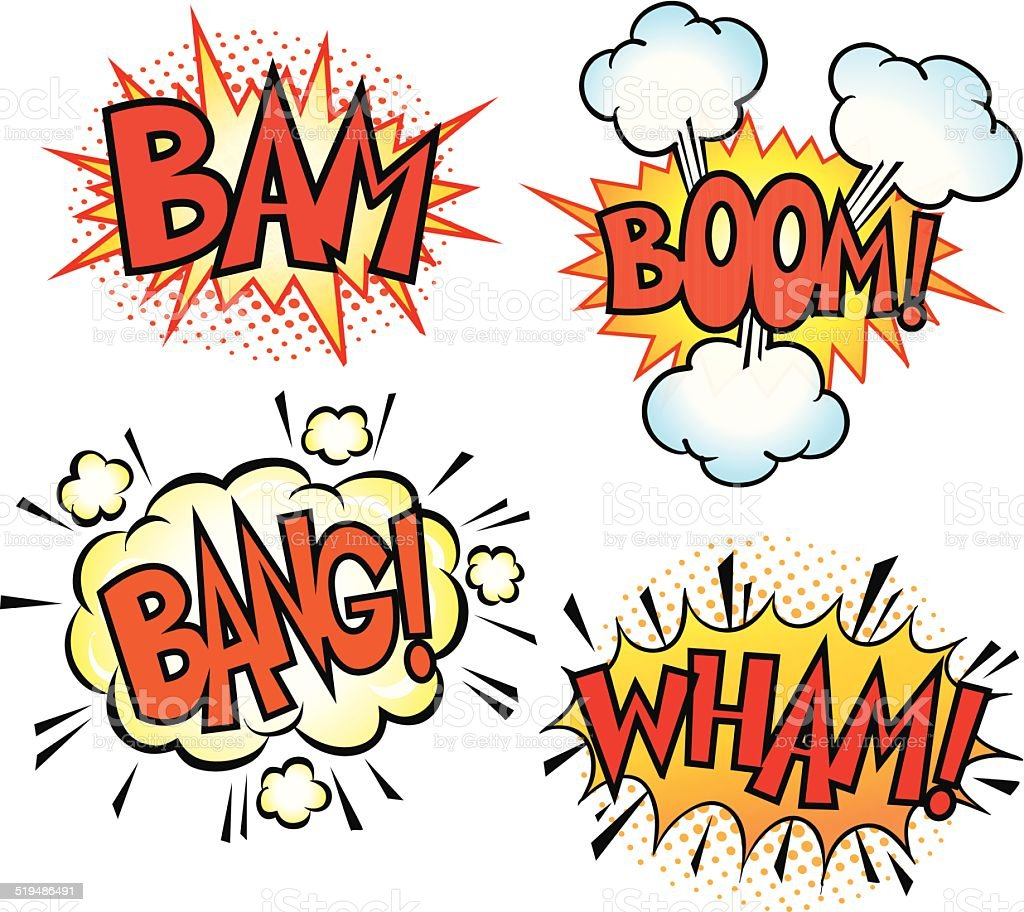 Comic Art Sound Effects vector art illustration