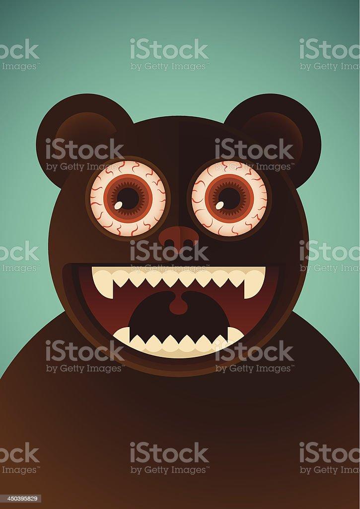 Comic bear. royalty-free stock vector art