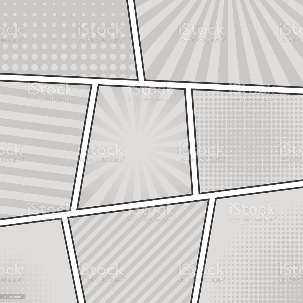 Comic book background vector art illustration