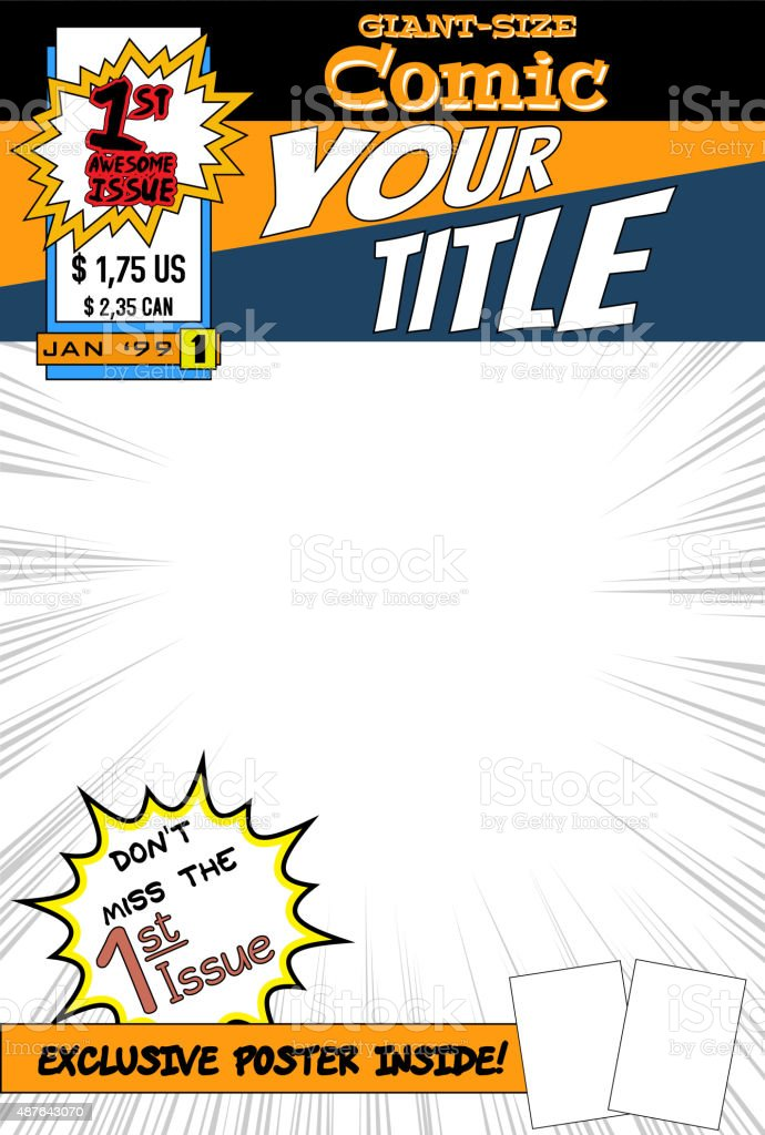 Comic book cover. vector art illustration