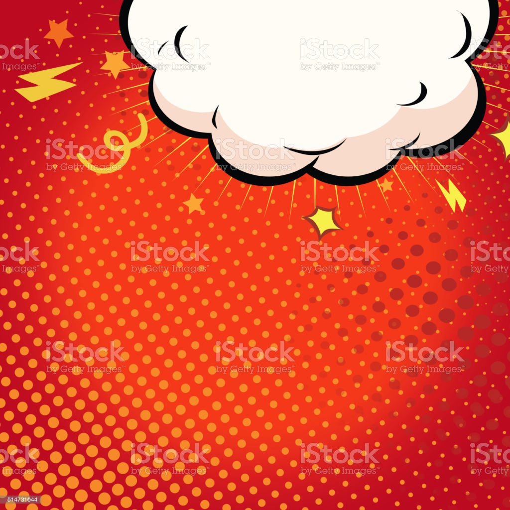 Comic book illustration with explosion on top. vector art illustration