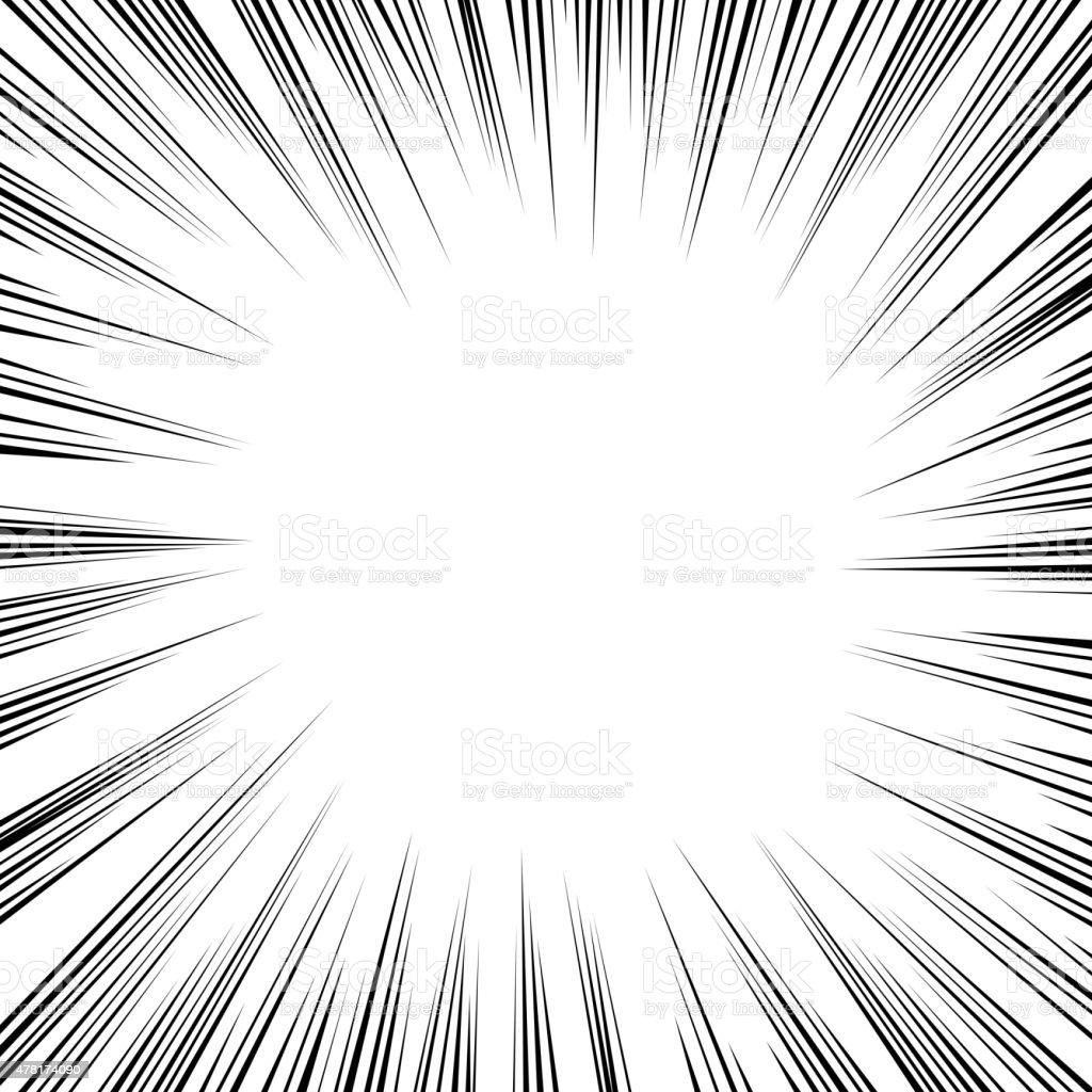 Comic book radial speed lines. vector art illustration