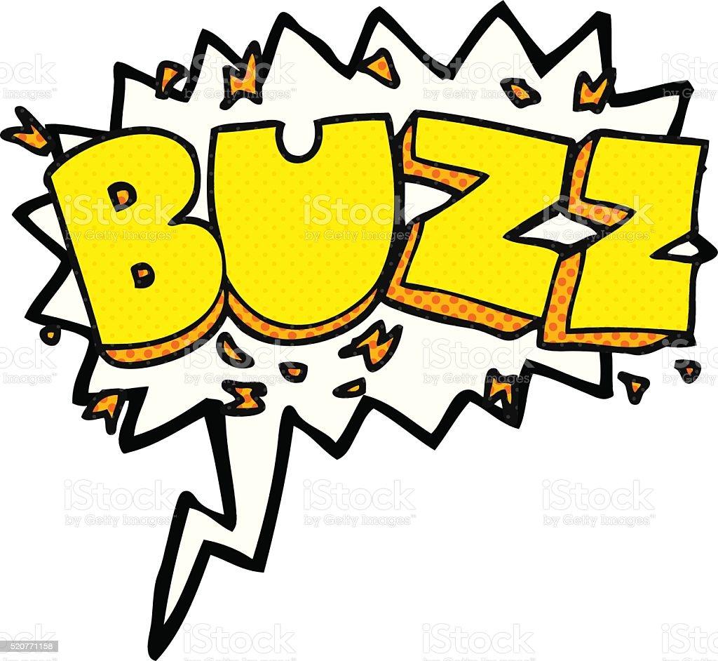 comic book speech bubble cartoon buzz symbol vector art illustration