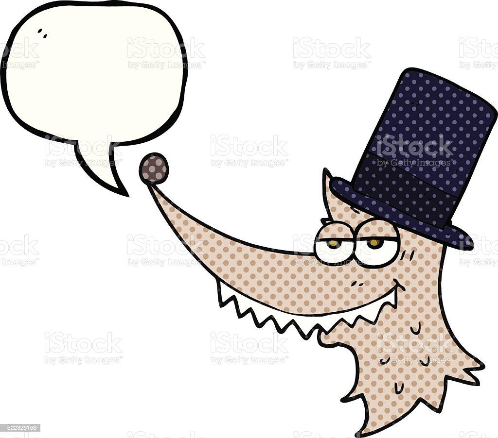 comic book speech bubble cartoon rich wolf vector art illustration