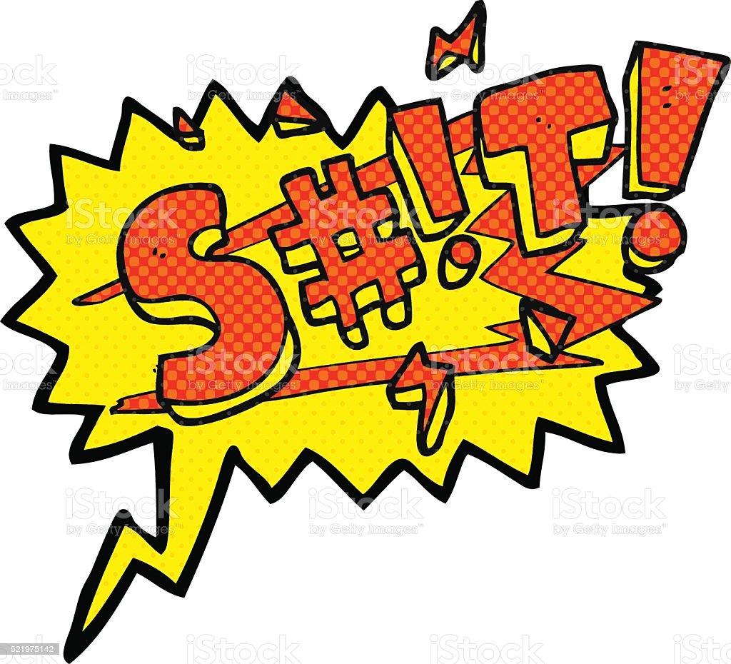 comic book speech bubble cartoon swearword vector art illustration