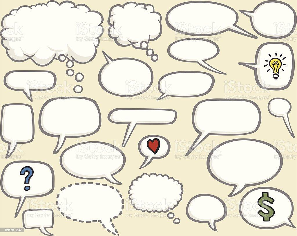 comic book speech bubbles royalty-free stock vector art