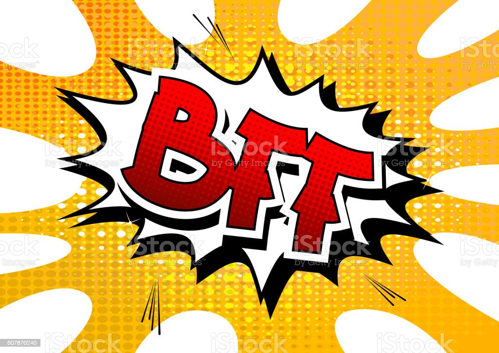 BFF - Comic book style word. vector art illustration