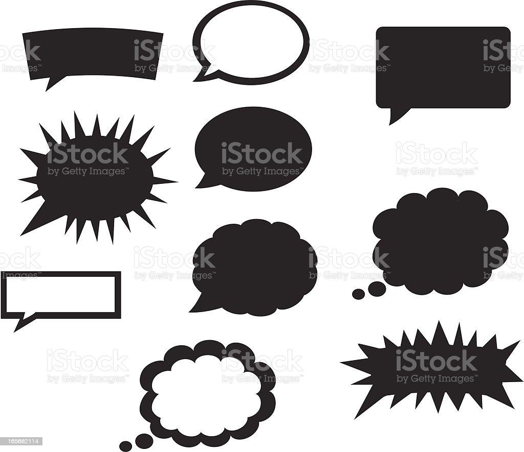 Comic Bubble Style royalty-free stock vector art