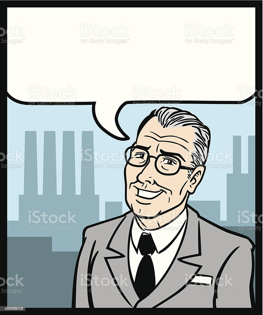 Comic Business Man royalty-free stock vector art