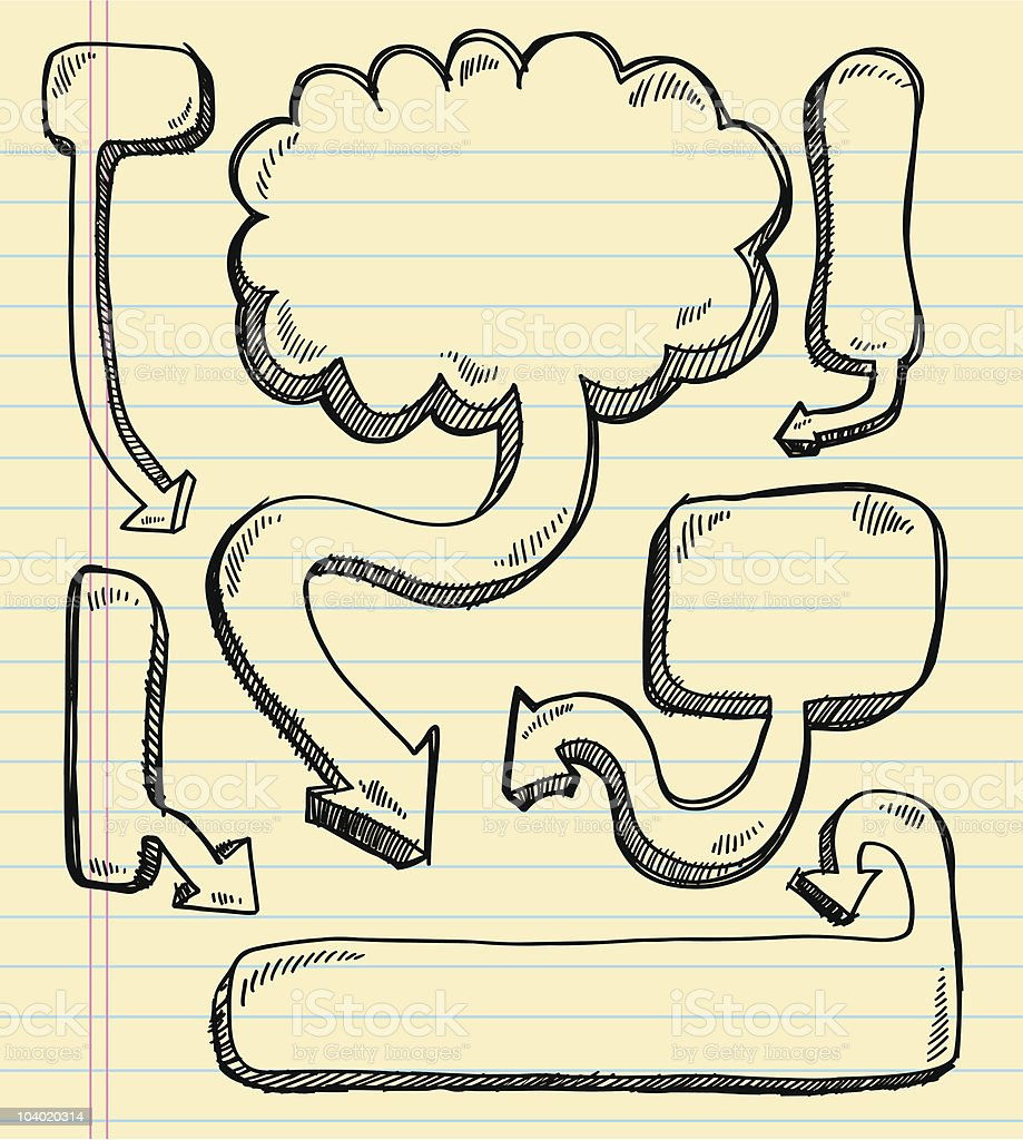 Comic Doodle Speech Bubbles royalty-free stock vector art