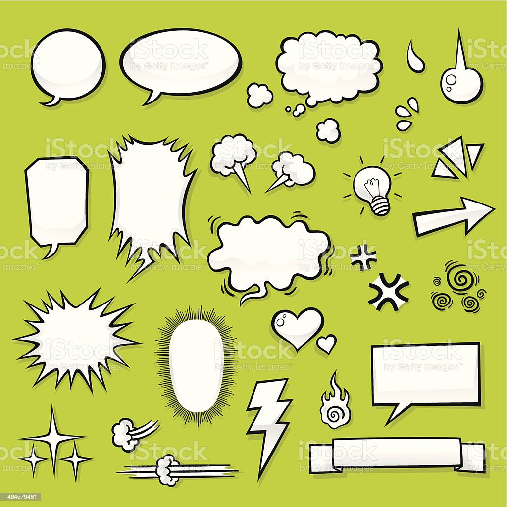 Comic Elements vector art illustration