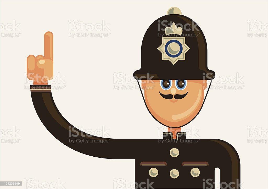Comic english policeman. royalty-free stock vector art