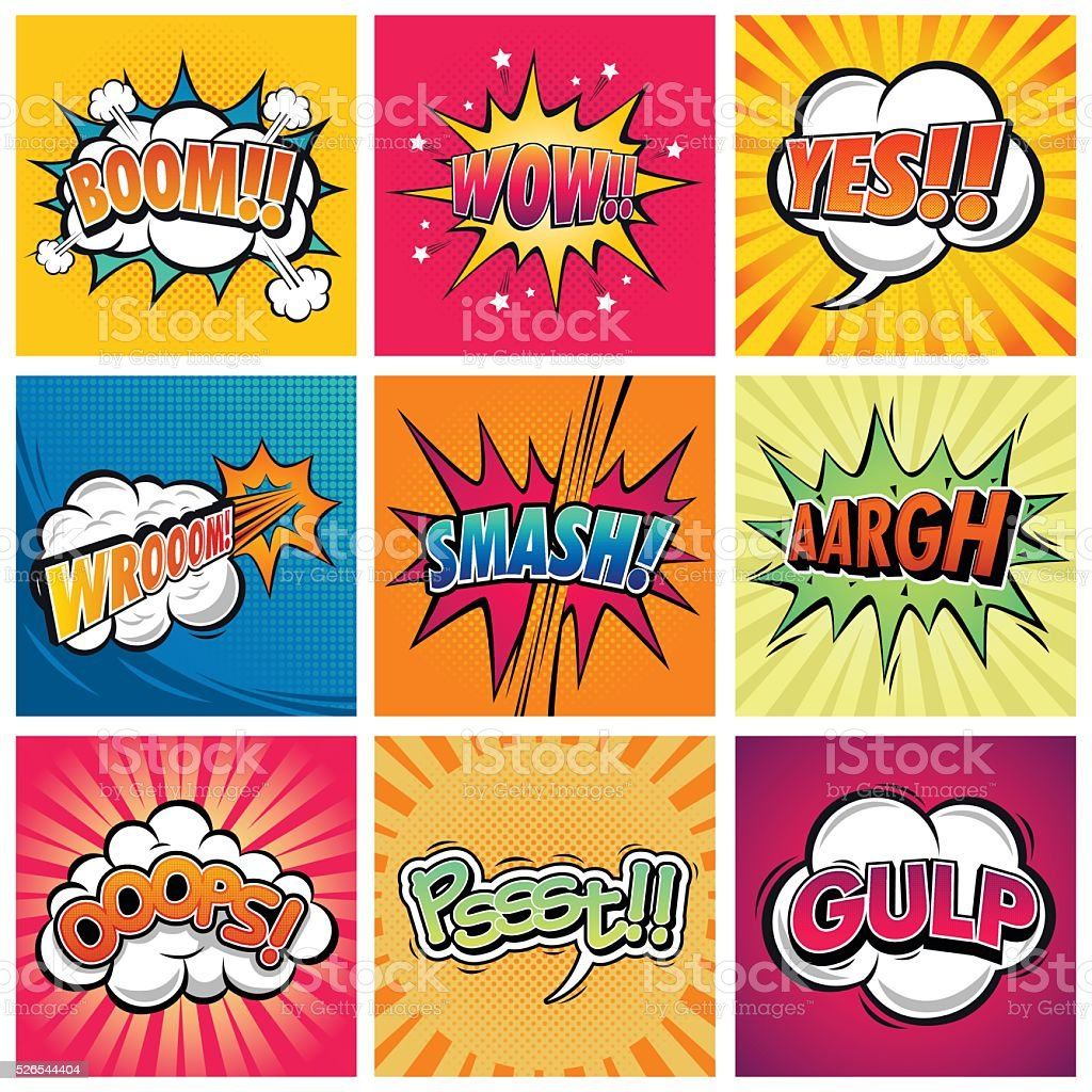 Comic Expression vector art illustration
