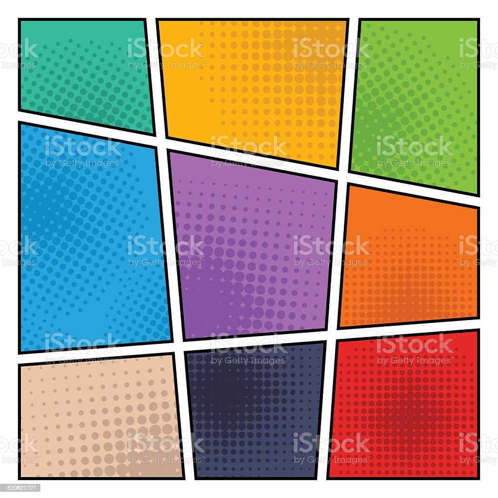 Comic halftone background, vector illustration vector art illustration