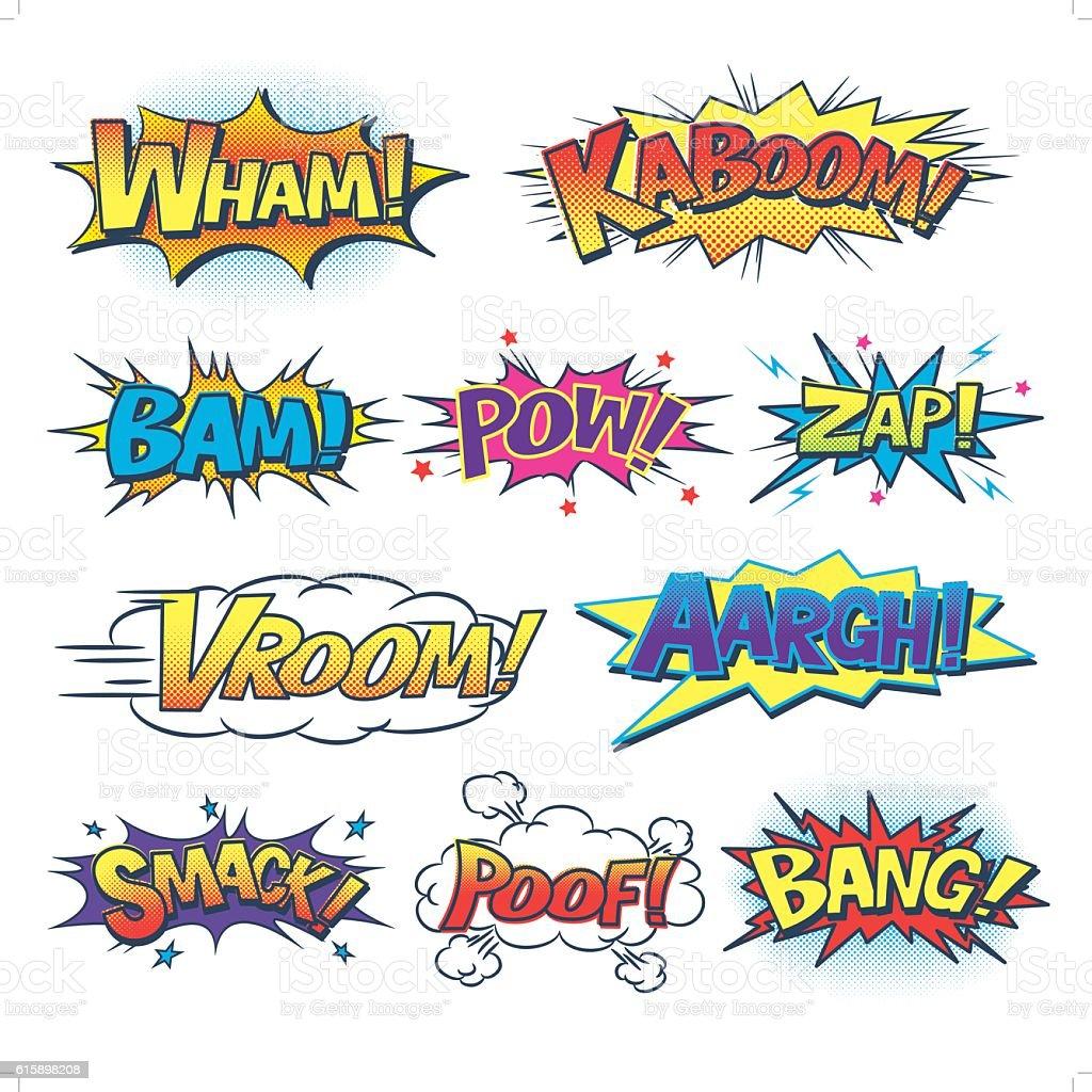 comic sound effect vector art illustration