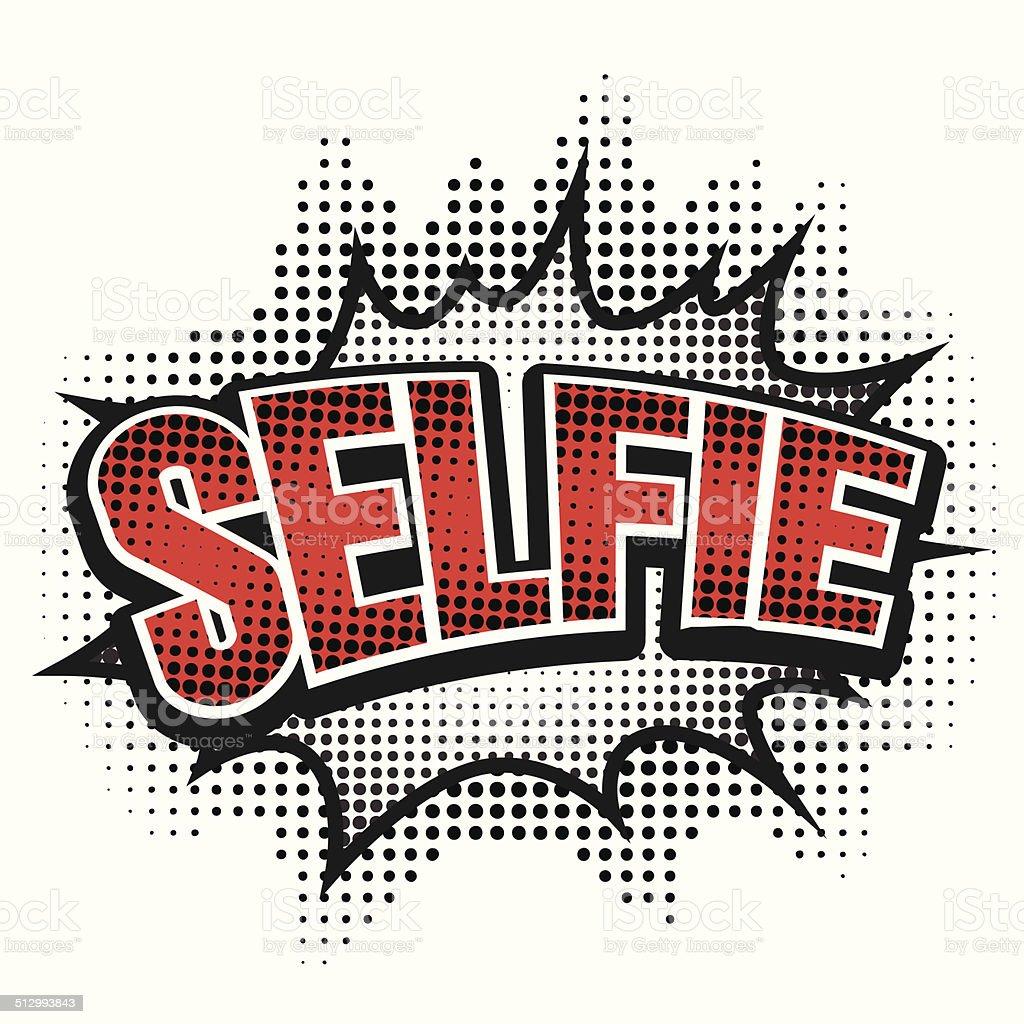 Comic speech bubble, selfie, isolate vector illustration vector art illustration