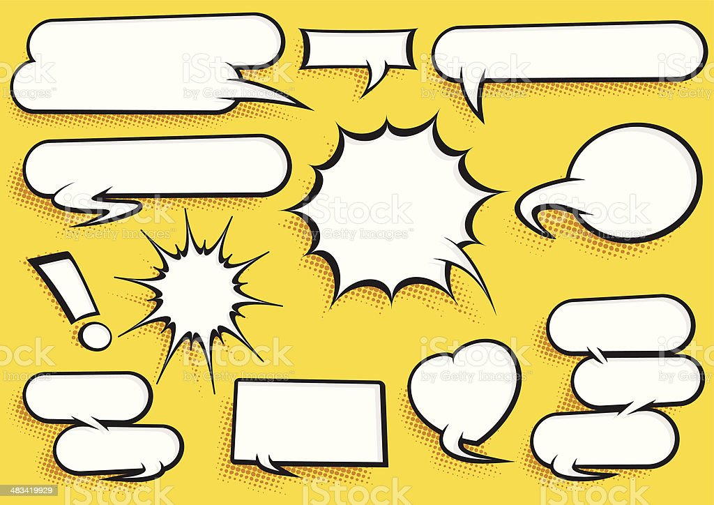 Comic Speech Bubble Set royalty-free stock vector art
