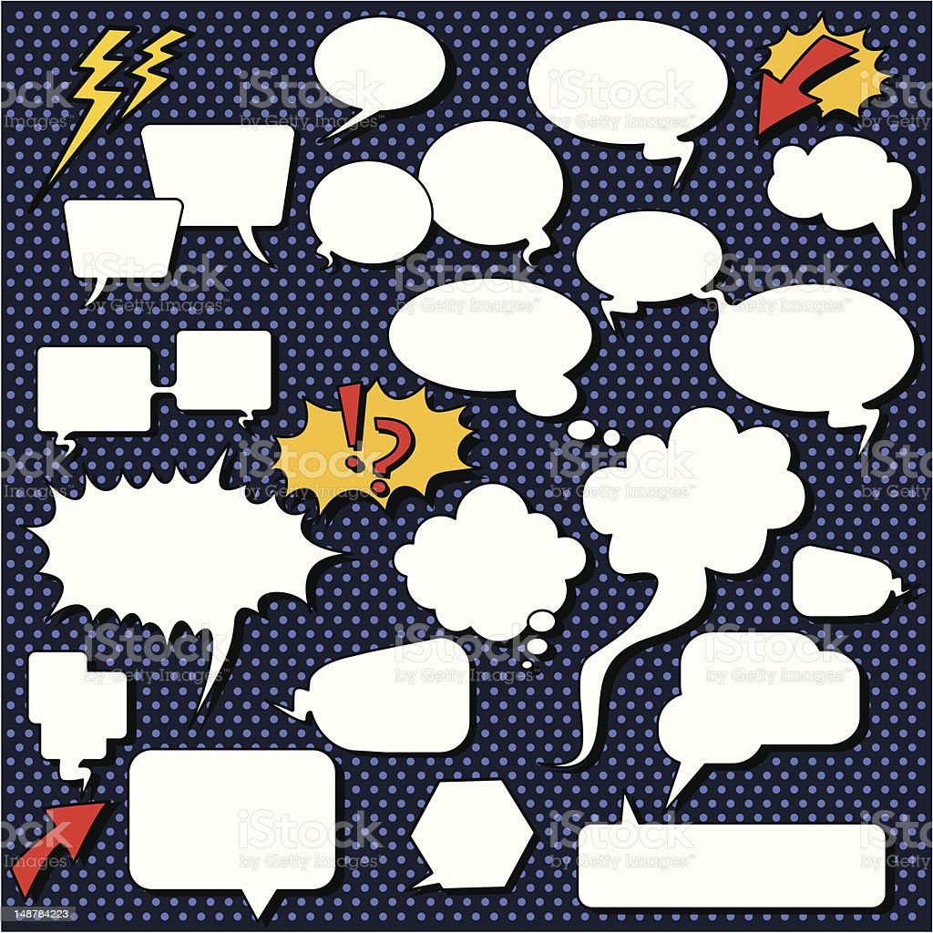 Comic speech bubbles. royalty-free stock vector art