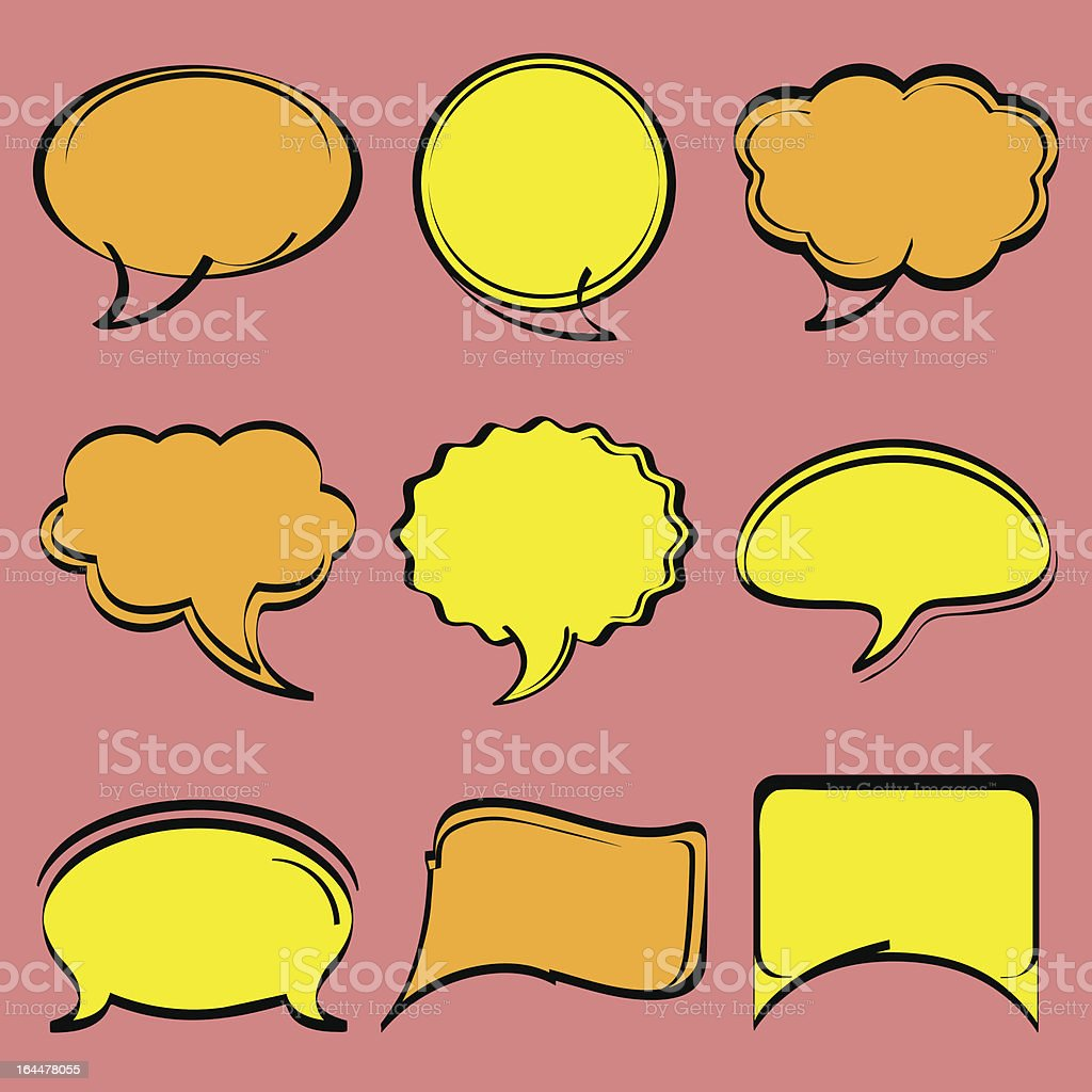 Comic Speech Bubbles royalty-free stock vector art