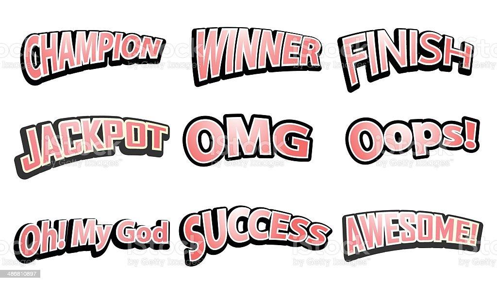 Comic Speech text hits set. Vector illustration vector art illustration