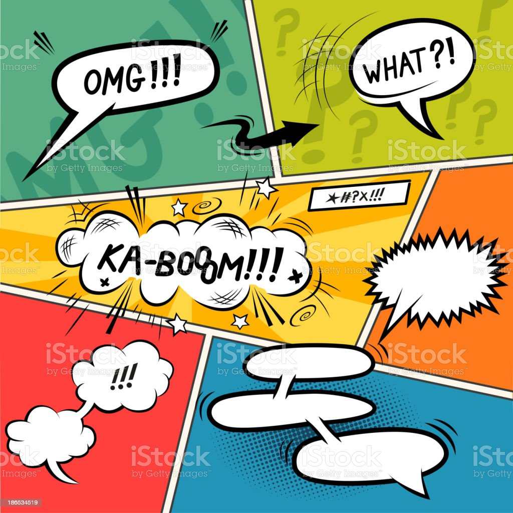 Comic Strip Speech Bubbles vector art illustration