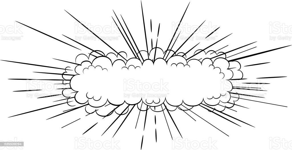 Comic style explosion vector art illustration